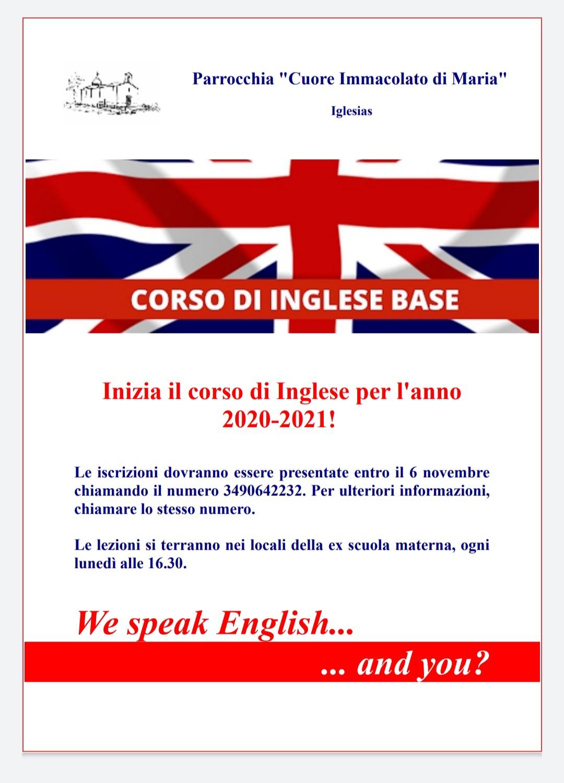 Iscrizioni corso di inglese